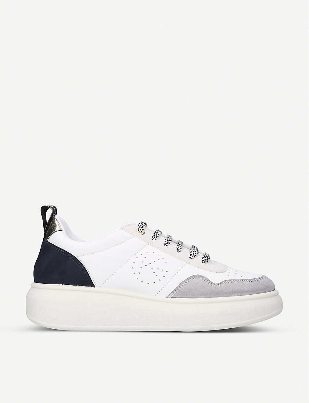 KG KURT GEIGER: Lydia panelled faux-leather trainers
