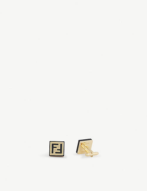 FENDI Logo cufflinks