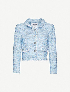 VESTIAIRE COLLECTIVE Chanel cropped woven jacket