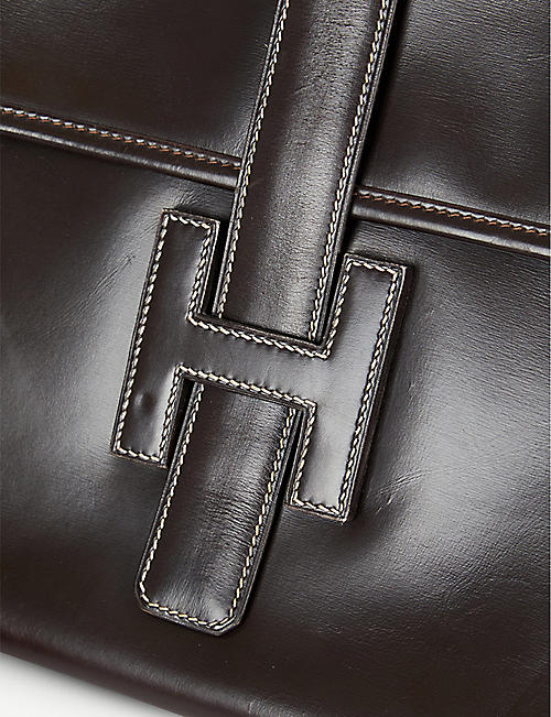 VESTIAIRE COLLECTIVE Hermes Jige leather clutch bag