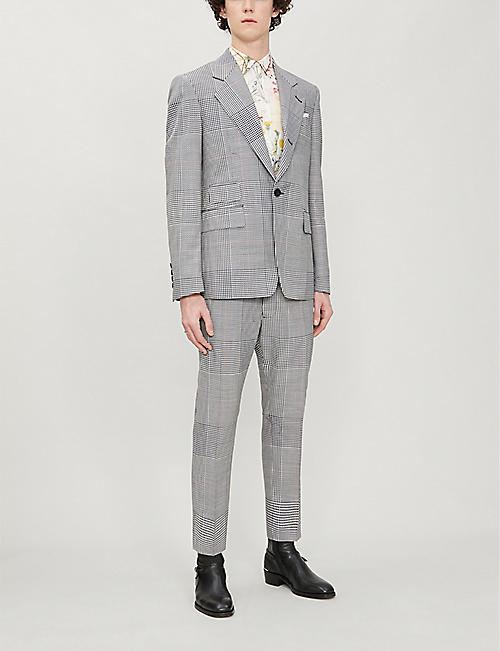 VIVIENNE WESTWOOD Classic Prince check single-breasted wool blazer