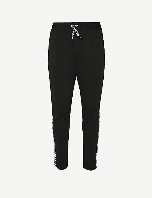 A BATHING APE Logo-embroidered jersey jogging bottoms