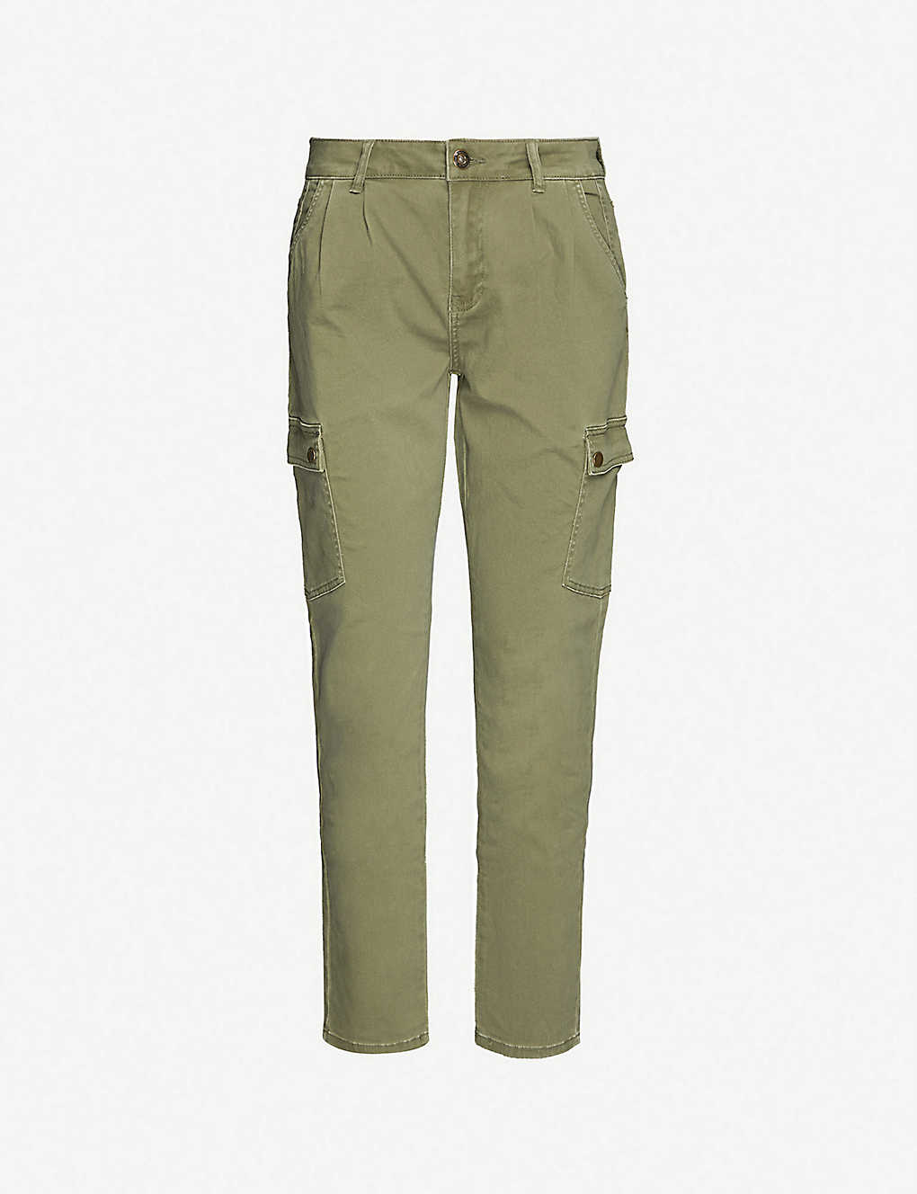 NOISY MAY: Bronx mid-rise stretch-cotton trousers