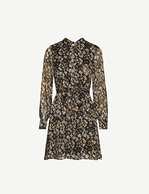 REISS Phillippa floral-print chiffon mini dress