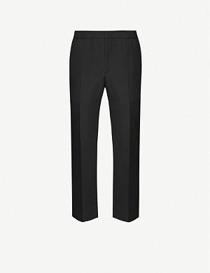 JUUN J Elasticated Straight tailored-fit wool trousers