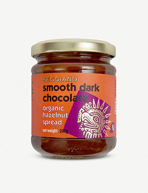SEGGIANO Smooth dark chocolate organic hazelnut spread 200g