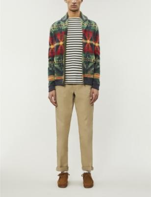 Presentador Fontanero Cambios de  POLO RALPH LAUREN - Southwestern graphic-pattern cotton-blend cardigan    Selfridges.com