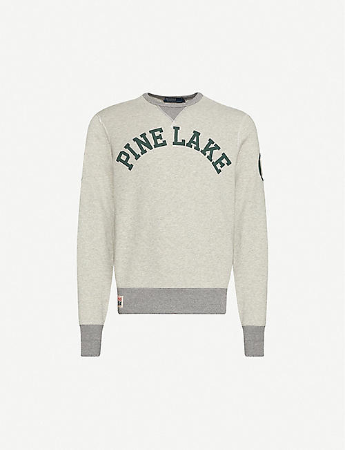 POLO RALPH LAUREN Pine Lake print cotton-jersey sweatshirt