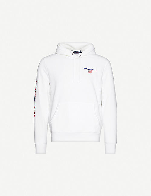 POLO RALPH LAUREN: Logo-embroidered stretch-jersey hoody