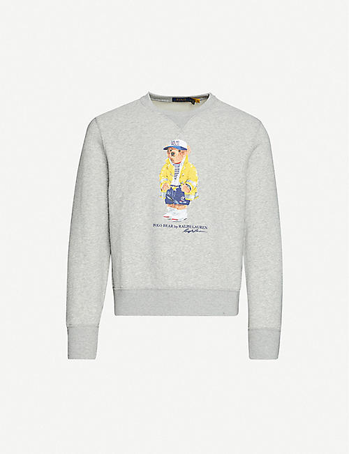 POLO RALPH LAUREN Polo Bear-print cotton-blend jersey sweatshirt