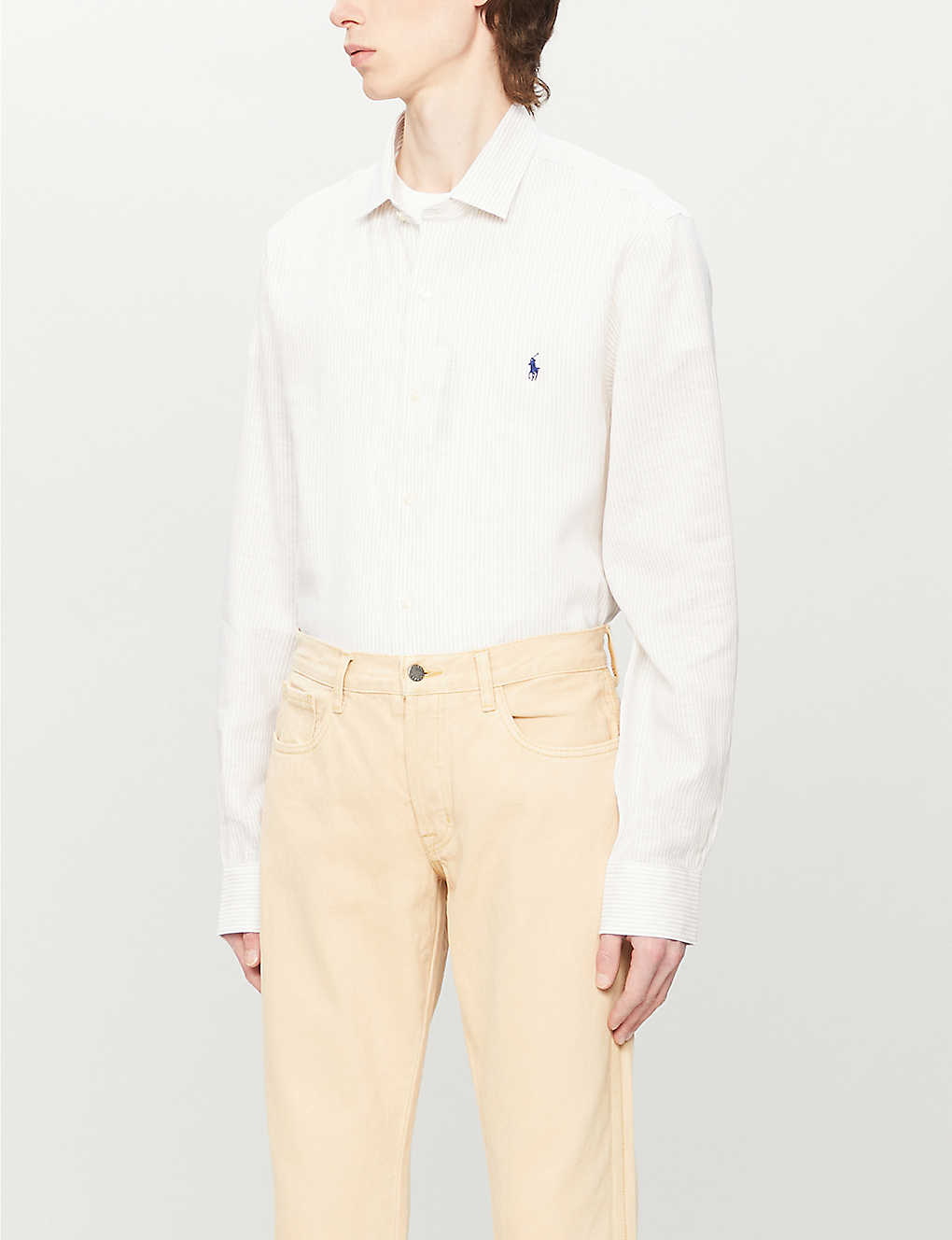 POLO RALPH LAUREN: Slim-fit linen shirt