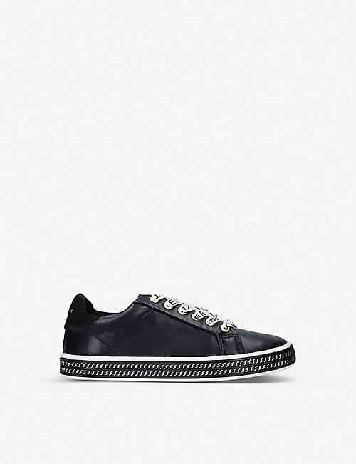 KURT GEIGER LONDON Mini Lambert faux-leather trainers