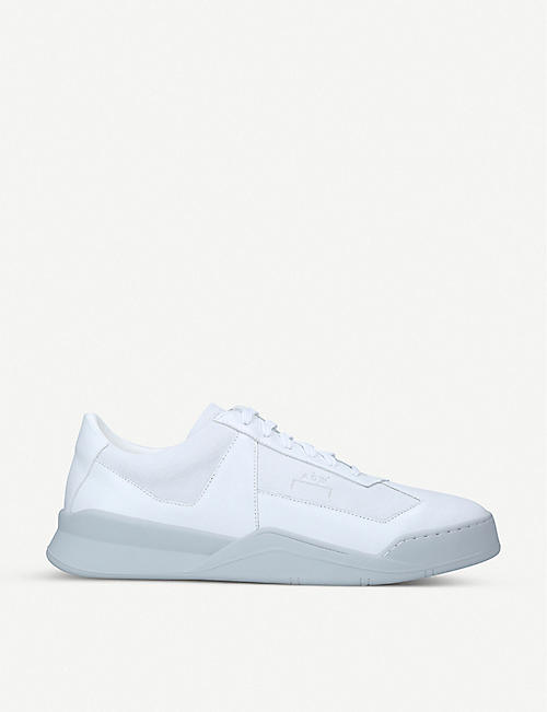COLD WALL: Shard panelled leather low-top trainers