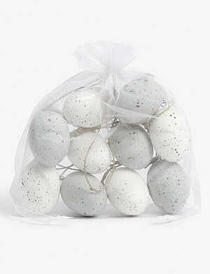THE WHITE COMPANY Painted foam egg decorations set of 10