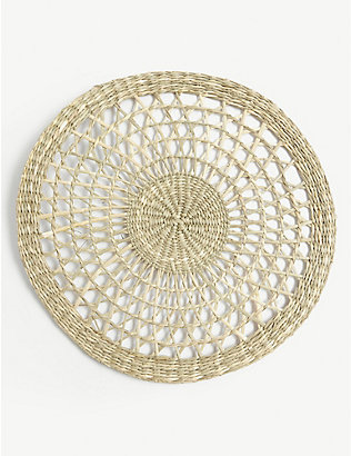 THE WHITE COMPANY: Woven seagrass placemats set of two