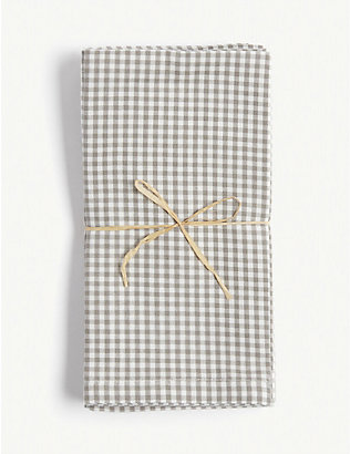 THE WHITE COMPANY: Gingham cotton napkins set of four