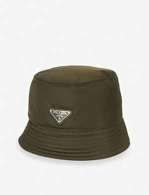 PRADA Logo-plaque nylon bucket hat