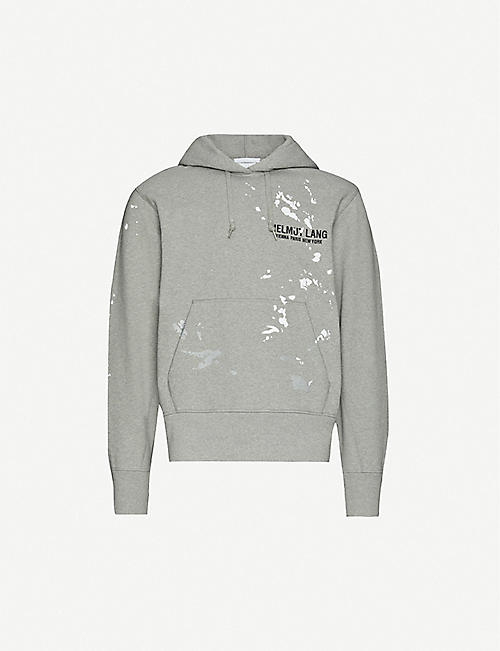 HELMUT LANG: Slim Painter cotton-jersey hoody
