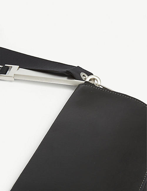 RICK OWENS Leather neck wallet