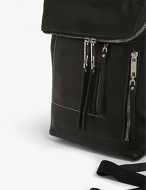 RICK OWENS Mini leather duffle bag