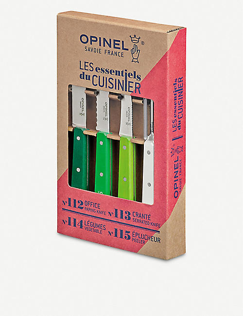 OPINEL N°112 paring knives set of four
