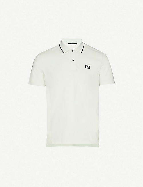 CP COMPANY Logo-print cotton-pique polo shirt