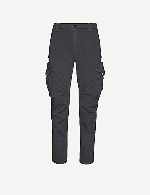 CP COMPANY Tapered stretch-cotton cargo trousers
