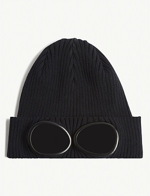 CP COMPANY Knitted cotton goggle beanie