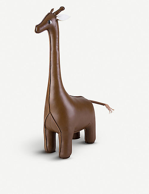 ZUNY: Giraffe faux-leather doorstop 49cm
