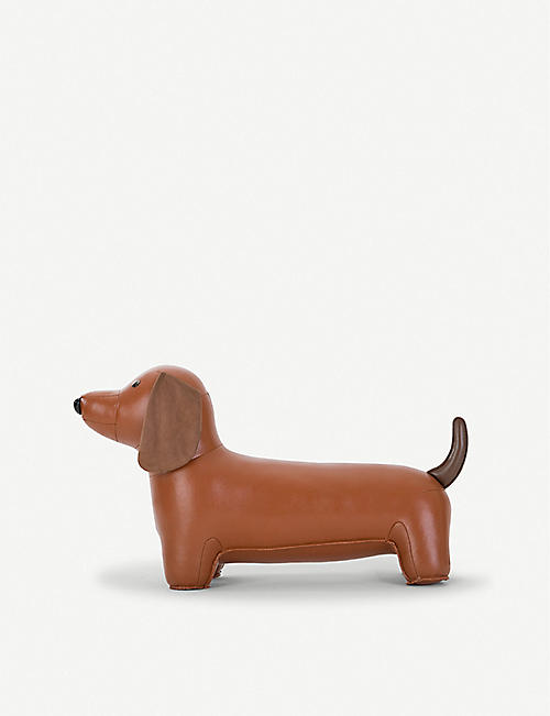 ZUNY: Teckel dog faux-leather doorstop 21.5cm