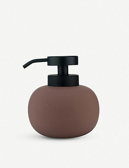 METTE DITMER: Lotus ceramic and rubber soap dispenser 13cm
