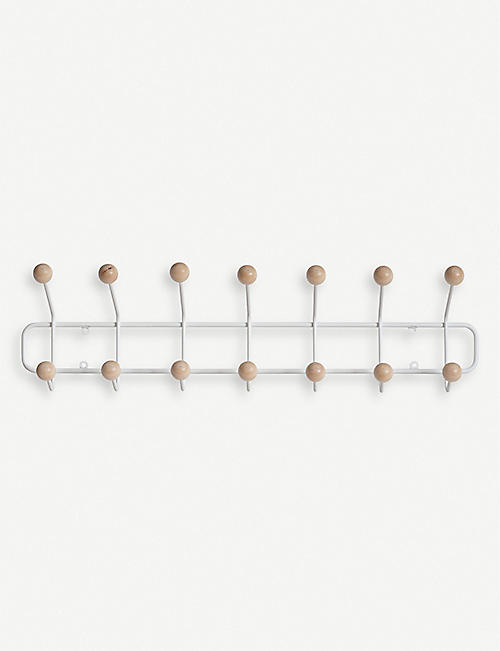 MAZE: Bill Horizontal birch and metal wall hanger