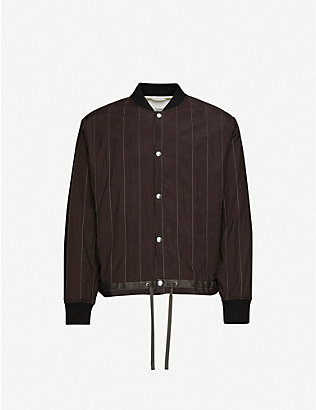 OAMC: Pinstriped shell bomber jacket