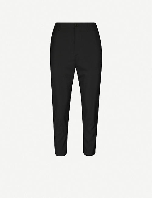 OAMC Cropped tapered wool trousers