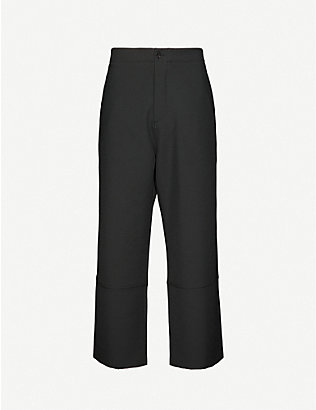 OAMC: Psych Poly relaxed-fit cropped woven trousers