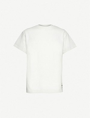 JIL SANDER Cotton logo patch t-shirt pack of 3