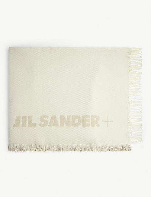 JIL SANDER Logo-embossed cotton beach blanket