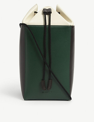 JIL SANDER Carton small leather clutch