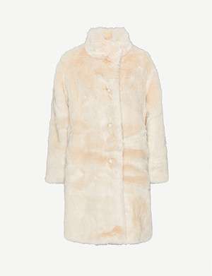 HAPPY X NATURE High-neck faux-fur coat