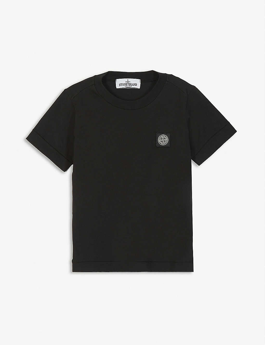 STONE ISLAND: Logo-patch cotton T-shirt 4-14 years