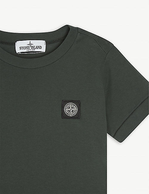 STONE ISLAND Logo-patch cotton T-shirt 4-14 years