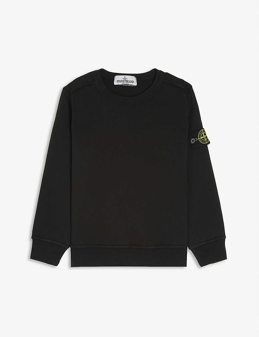 STONE ISLAND: Classic patch logo cotton jumper 4-14 years