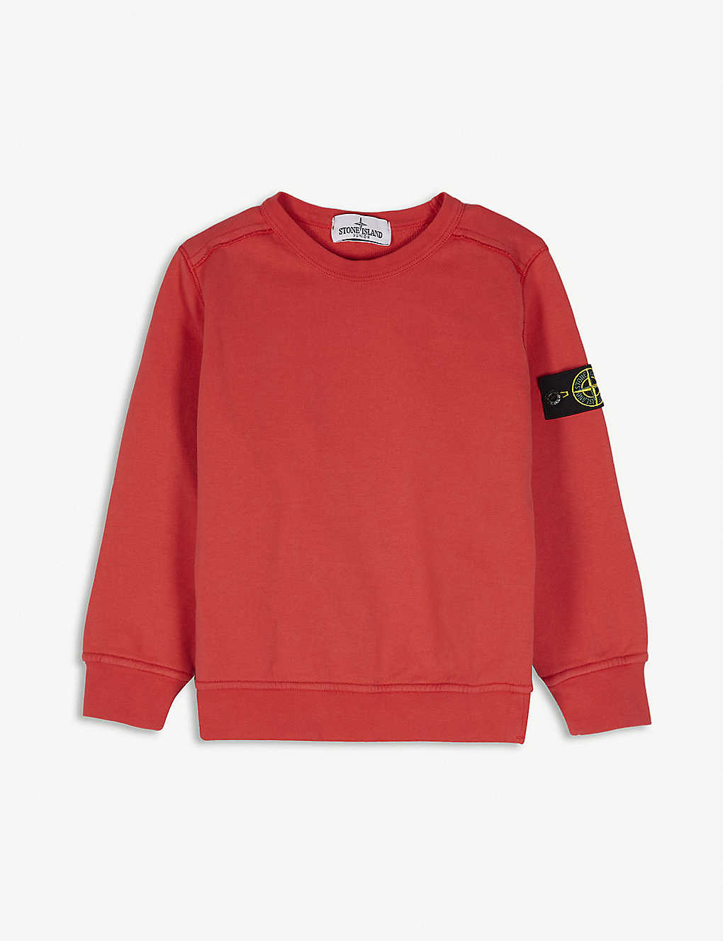 STONE ISLAND: Compass logo patch cotton sweatshirt 4-14 years