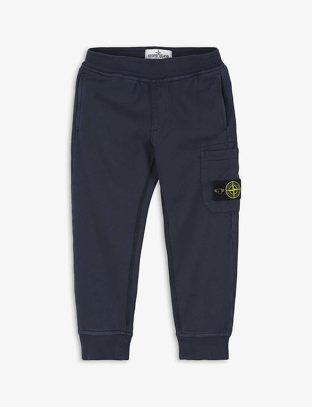 STONE ISLAND: Logo patch cotton-blend joggers 4-14 years