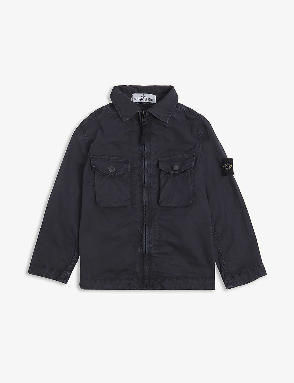STONE ISLAND: Cotton-blend overshirt 4-14 years
