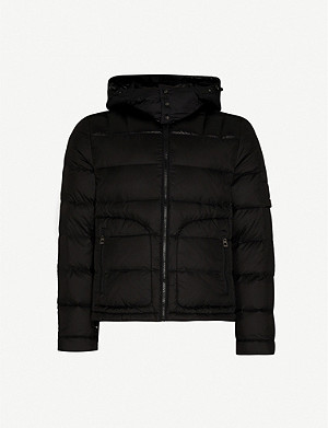 49 WINTERS Quilted shell-down hooded jacket