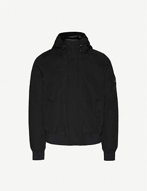 49 WINTERS The Bomber funnel-neck canvas-down jacket