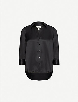 L'AGENCE: Dani relaxed-fit silk-crepe shirt
