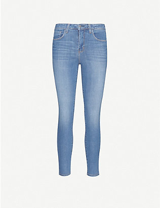 L'AGENCE: Margot skinny high-rise stretch-denim jeans