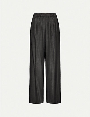 TOPSHOP: Wide-leg high-rise woven trousers